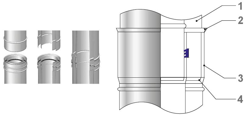Wkład kwasoodporny koncentryczny kondensacyjny
