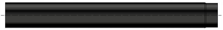 Rura czarna żaroodporna grubościenna wkład kominowy stalowy