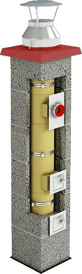 Brata Turbo komin ceramiczny system kominowy
