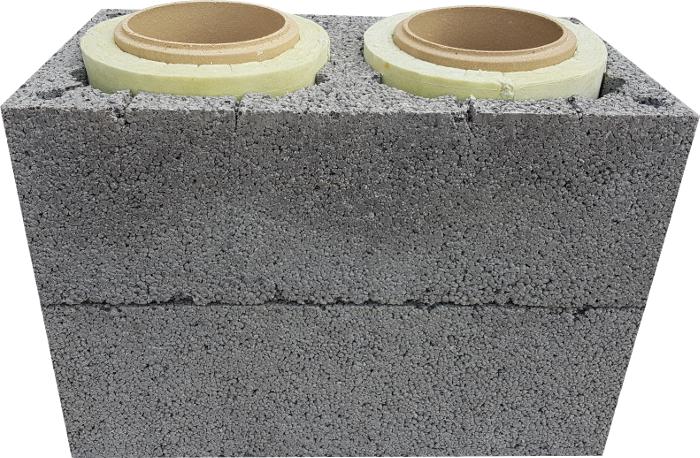 Anmar komin ceramiczny dwuciągowy dual duo system kominowy