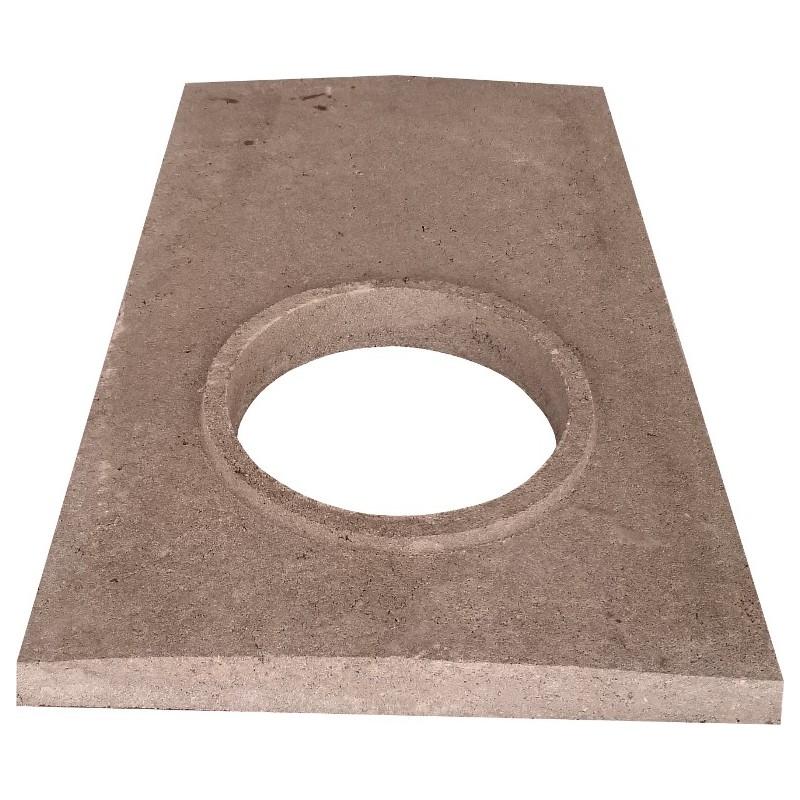 Płyta betonowa przykrywająca 51x67 komin z 1 wentylacją