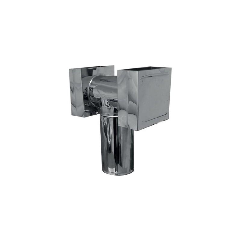 KS Deflektor typu H z rewizją kwasoodporny 0,5mm fi 140