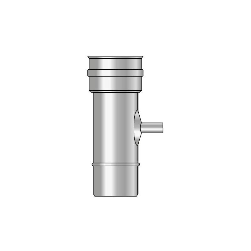 KK Rura 0,25m z odskraplaczem i uszczelką kwasoodporna 0,5mm fi 140