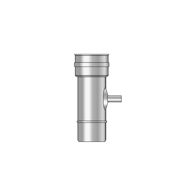 KK Rura 0,25m z odskraplaczem i uszczelką kwasoodporna 0,5mm fi 250