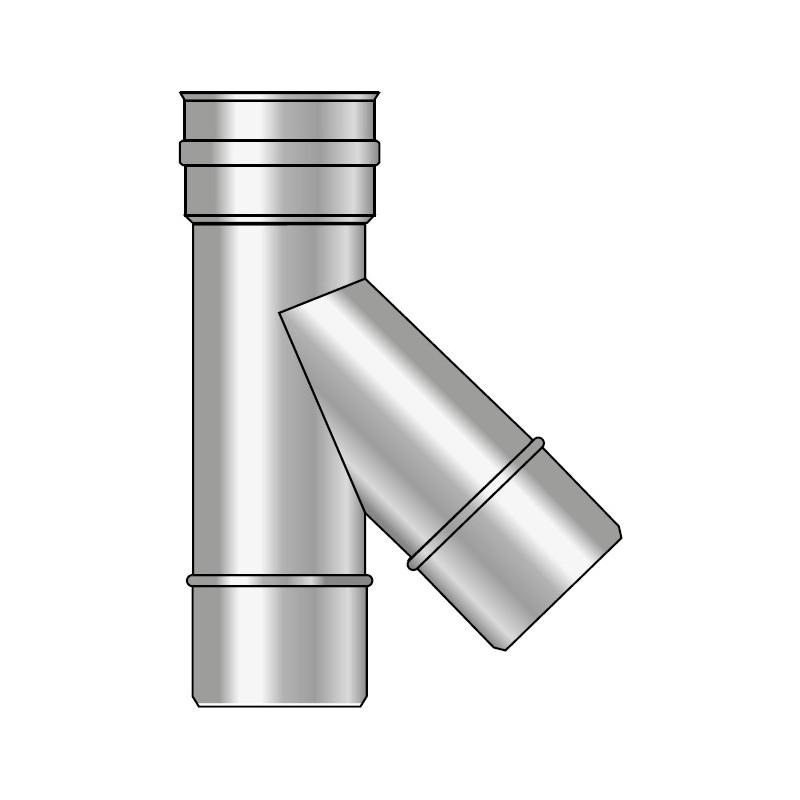 KK Trójnik spalin 45° z uszczelką kwasoodporny 0,5mm fi 80