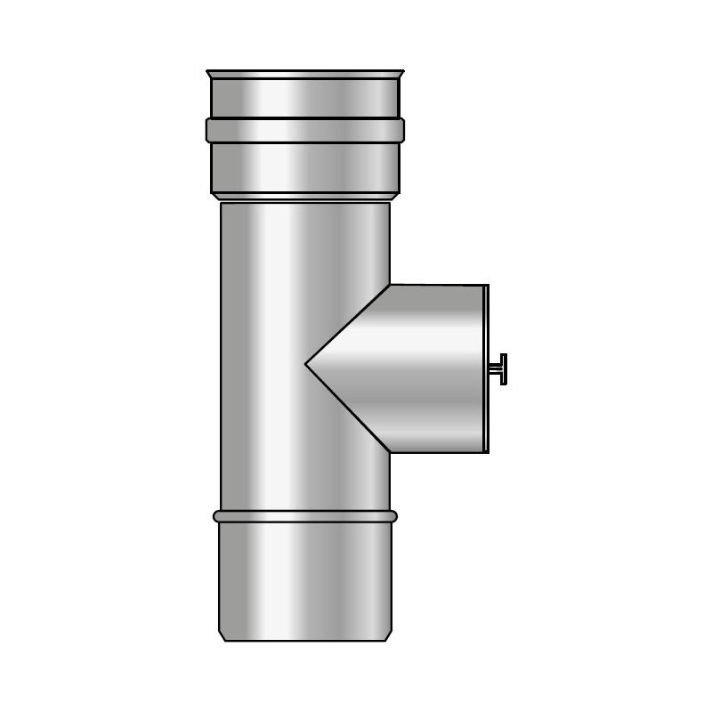 KK Wyczystka trójnikowa pionowa z uszczelką kwasoodporna 0,5mm fi 130