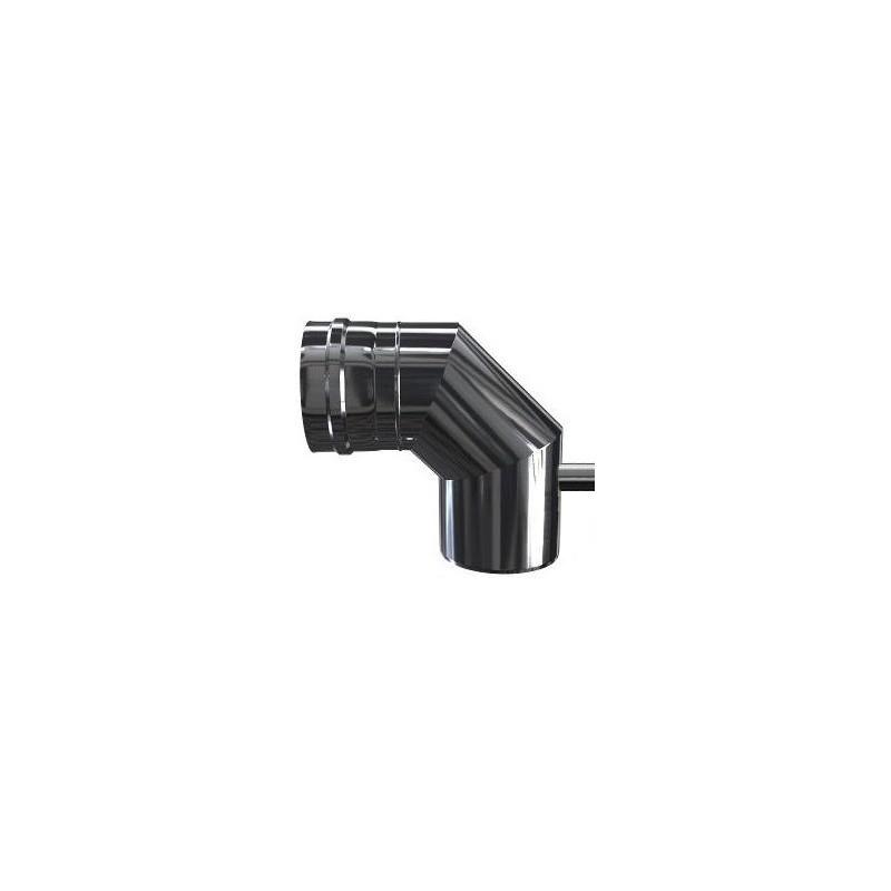 KK Kolano 87° z uszczelką i odskraplaczem kwasoodporne 0,5mm fi 250