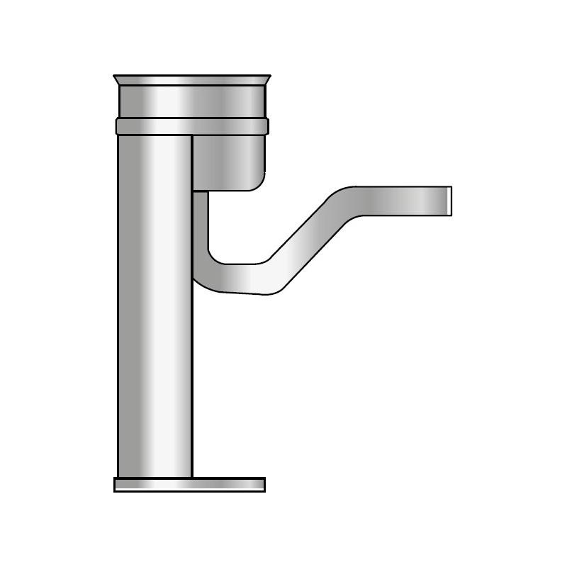 KK Odskraplacz ze stopką i uszczelką kwasoodporny 0,5mm fi 150
