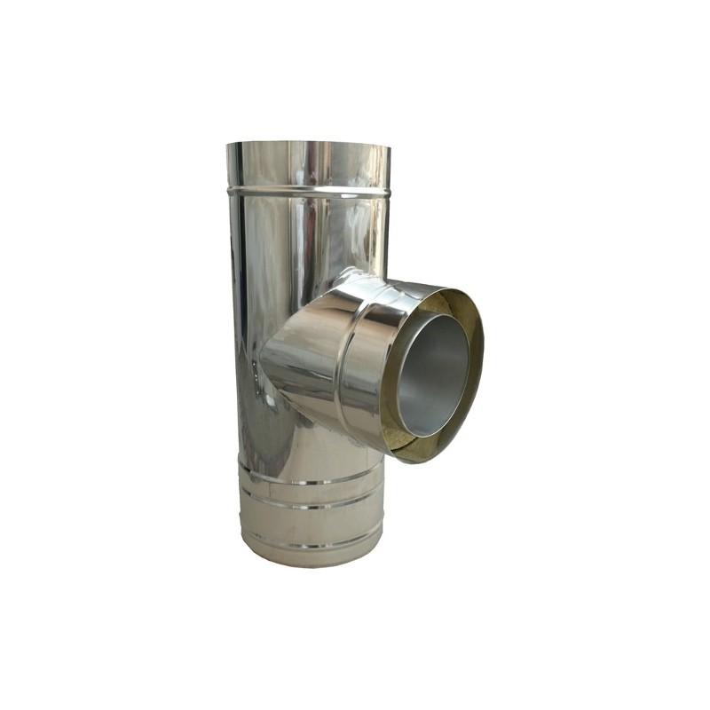 KKD trójnik 87° z uszczelką izolowany kwasoodporny 0,5mm fi 110