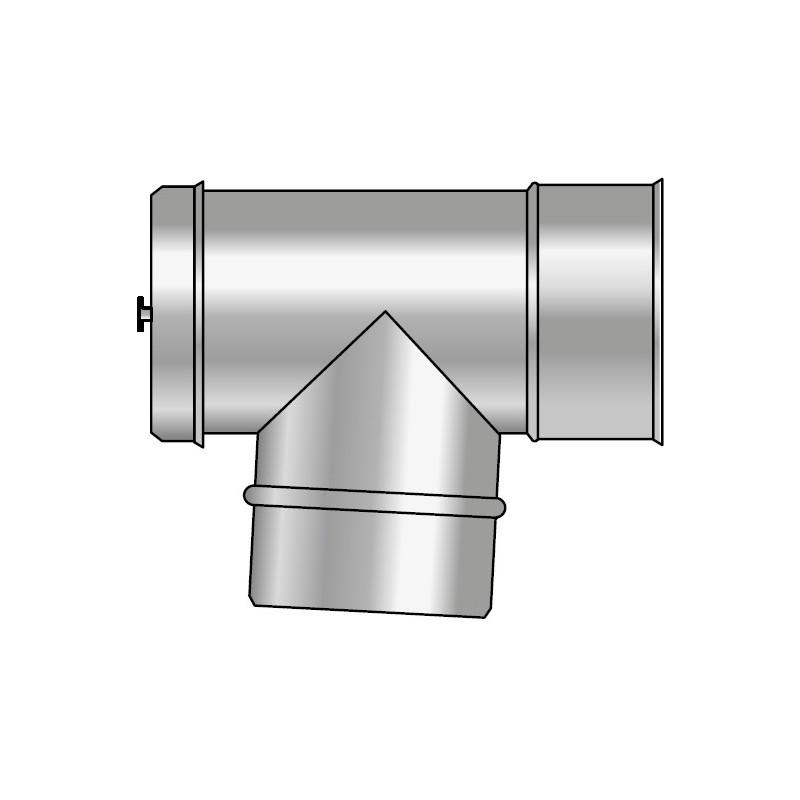 KKD Wyczystka trójnikowa z deklem i uszczelką pozioma 87° izolowana kwasoodporna 0,5mm fi 150