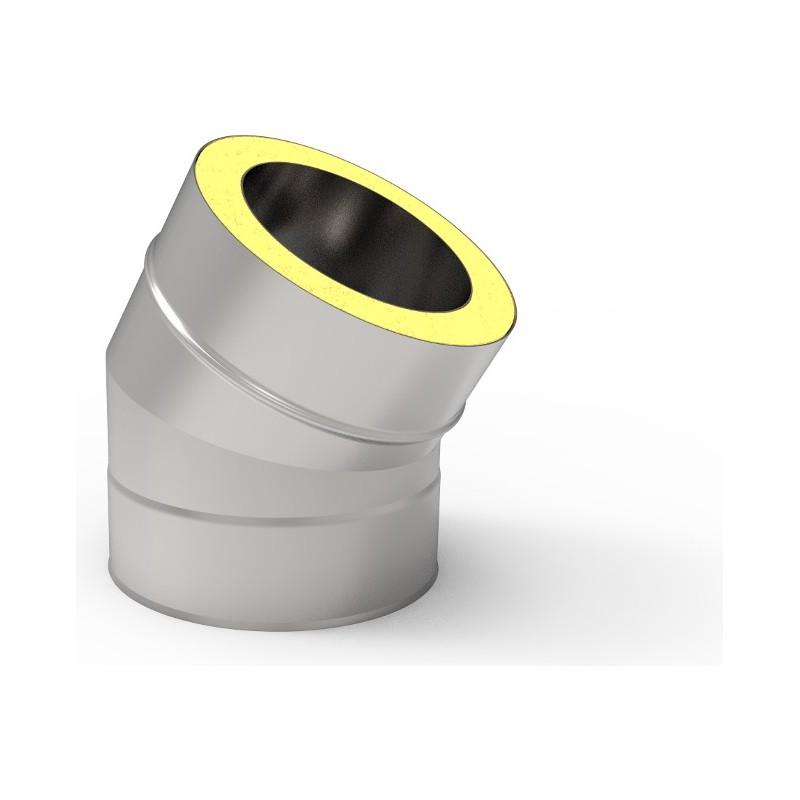 KKD Kolano 30° z uszczelką izolowane kwasoodporne 0,5mm fi 250