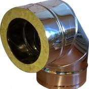KKD Kolano 87° z uszczelką izolowane kwasoodporne 0,5mm fi 140
