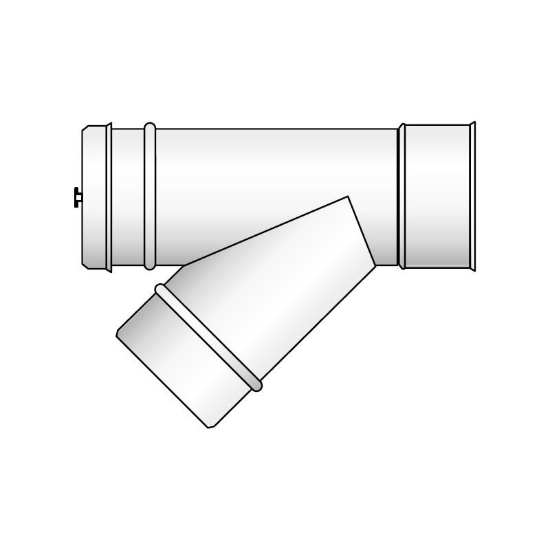 KPM Wyczystka 45° pozioma biała koncentryczna kwasoodporna 0,5mm fi 60/100