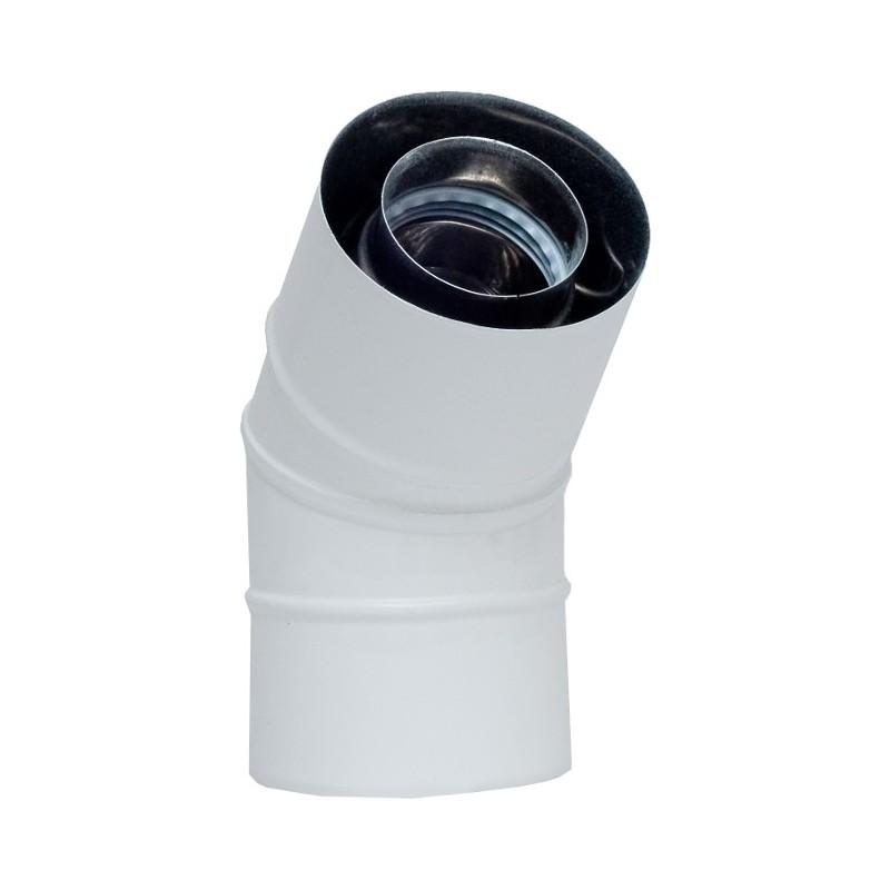 KPM Kolano 45° białe koncentryczne kwasoodporne 0,5mm fi 60/100