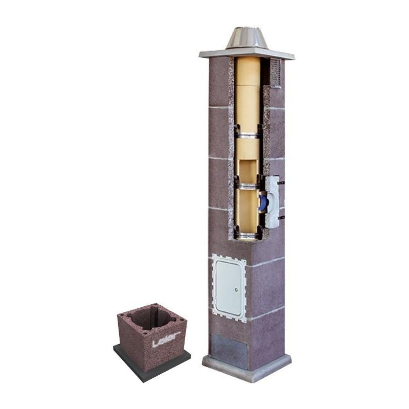 Komin ceramiczny Leier Turbo fi 140  7m (1 przyłącze)