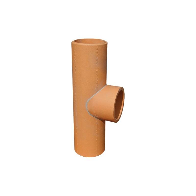 Trójnik spalin 90° ceramiczny kominowy prosty fi 180