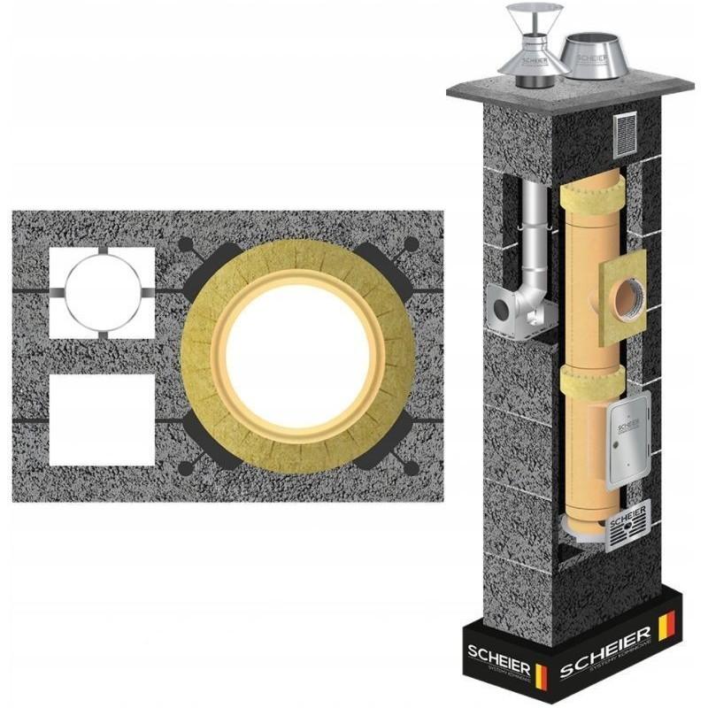 Komin ceramiczny Scheier DUO Standard KW2 fi 180 + fi 80 12m