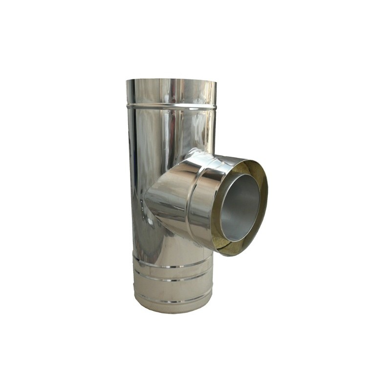 KD Trójnik 90° kwasoodporny 0,8 mm izolowany fi 300/360mm