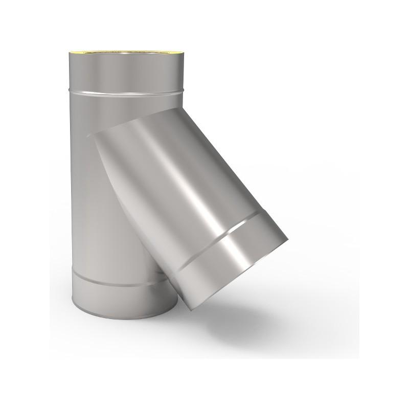 KD Trójnik 45° kwasoodporny 0,8 mm izolowany fi 160/220mm