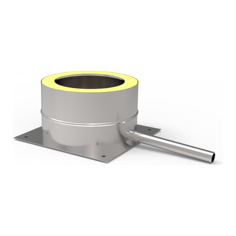 KD Odskraplacz z podstawą kwasoodporny 1,0 mm izolowany fi 200/260 mm