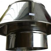 Stożek ustnik dyfuzor kwasoodporny z rurą na komin ceramiczny fi 160