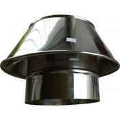 Stożek ustnik dyfuzor kwasoodporny z rurą na komin ceramiczny fi 200