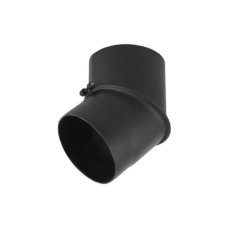 KB Kolano 45° regulowane czarne żaroodporne 2,0 mm fi 200