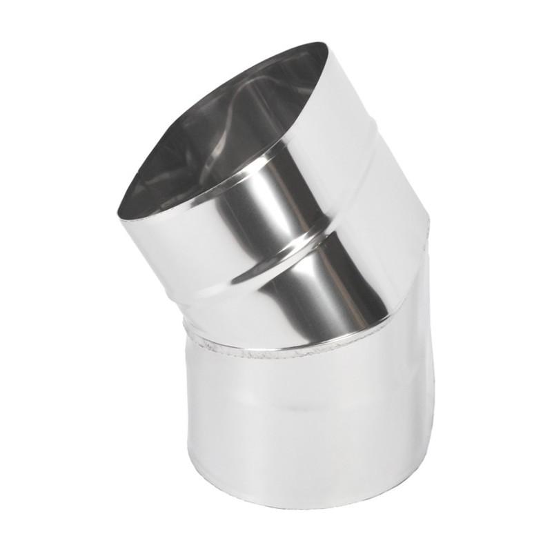 KO Kolano 45° owalne szerokie kwasoodporna 0,8 mm 120x180