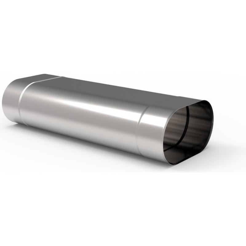 KO Rura 0,5m owalna kwasoodporna 1,0 mm 130x250