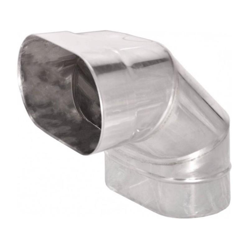 KO Kolano 90° owalne szerokie kwasoodporna 0,8 mm 130x200