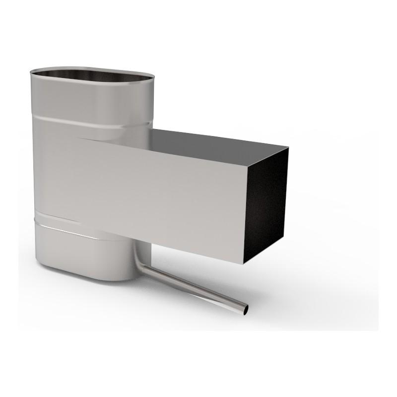 KO Wyczystka z odskraplaczem owalna wąska kwasoodporna 0,8 mm 120x210