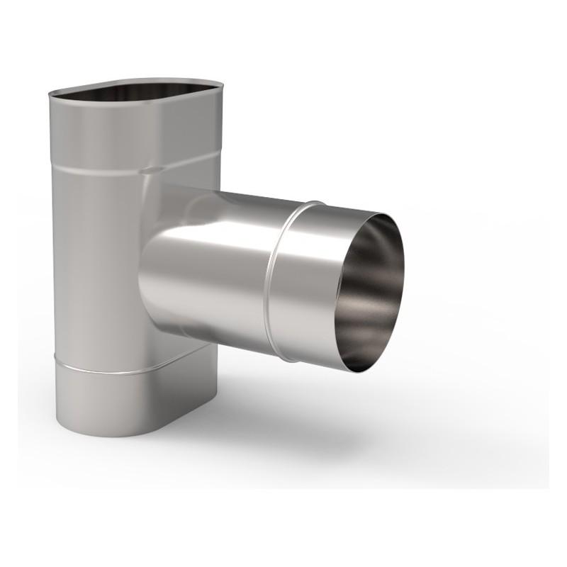 KO Trójnik 90° owalny szeroki kwasoodporny 0,8 mm 110x200