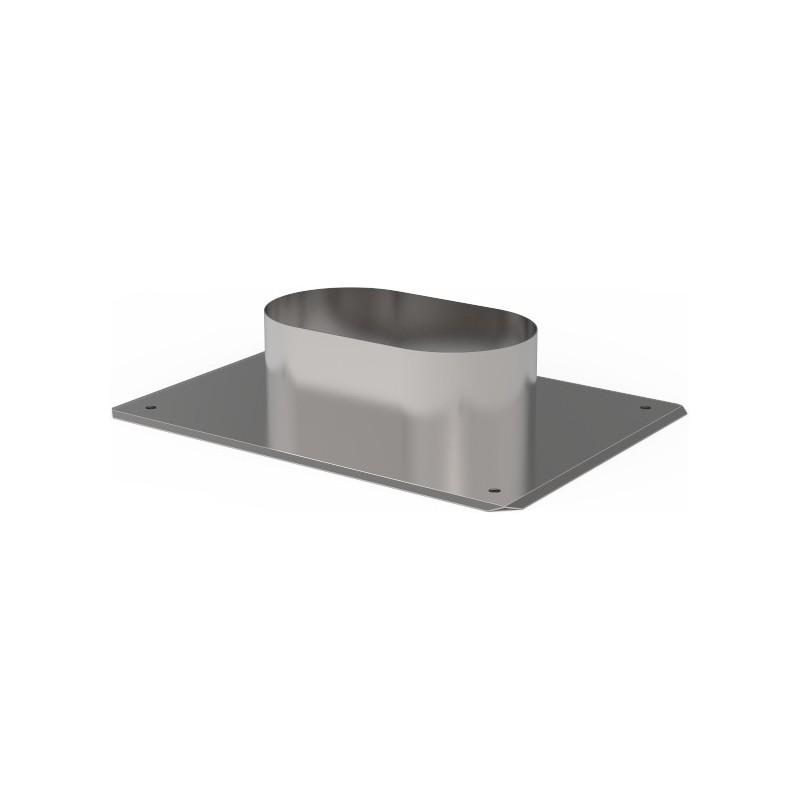 KO Przejście dachowe owalne kwasoodporne 0,8 mm 130x240