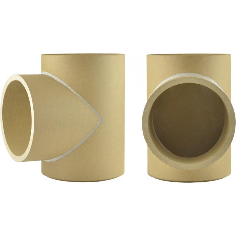 Trójnik spalin 90° ceramiczny niski 33 cm kominowy prosty fi 180