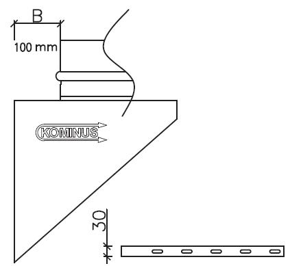 Konsola wsporcza wspornik wkład kwasoodporny żaroodporny komin izolowany