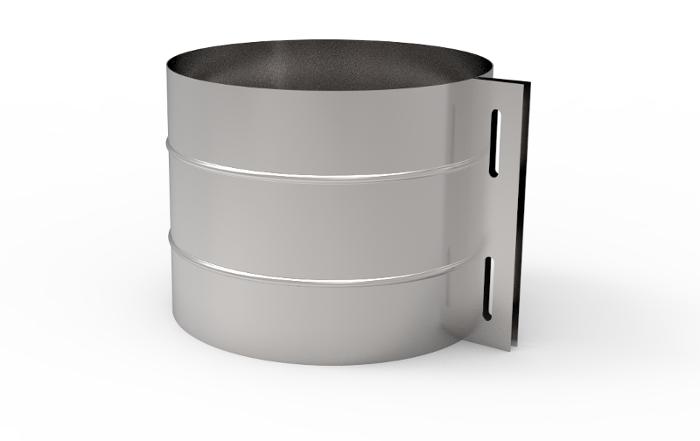 Zacisk montażowy komin izolowany wkład kwasoodporny żaroodporny