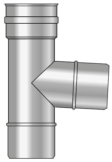 Trójnik kwasoodporny wkład kondensacyjny