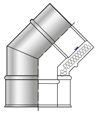 Kolano kwasoodporne wkład kondensacyjny izolowany