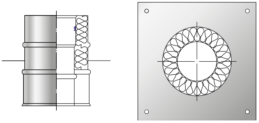 Konsola odciążająca kwasoodporna wkład kondensacyjny izolowany