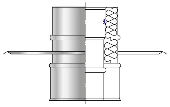Przejście dachowe kwasoodporne wkład kondensacyjny izolowany