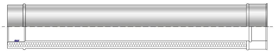 Rura kwasoodporna wkład kondensacyjny izolowany