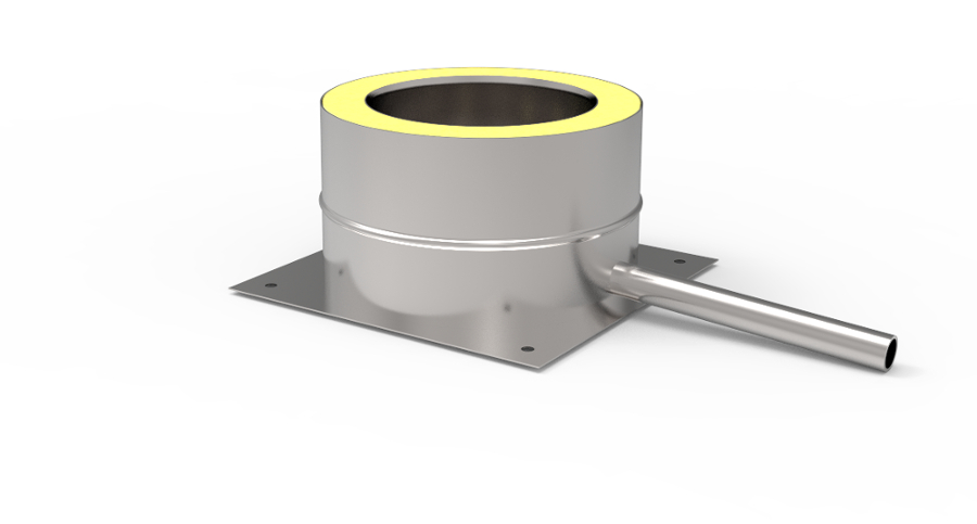 Odskraplacz kwasoodporny koncentryczny wkład kondensacyjny izolowany