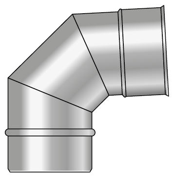 Kolano kwasoodporne koncentryczne wkład kondensacyjny
