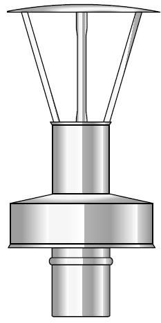 Wyrzut boczny kwasoodporny koncentryczny wkład kondensacyjny