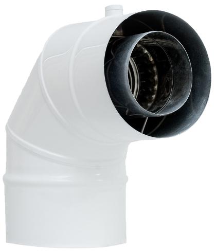 Kolano kwasoodporne koncentryczne wkład kondensacyjny izolowany