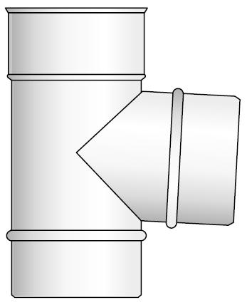 Trójnik kwasoodporny wkład kondensacyjny izolowany