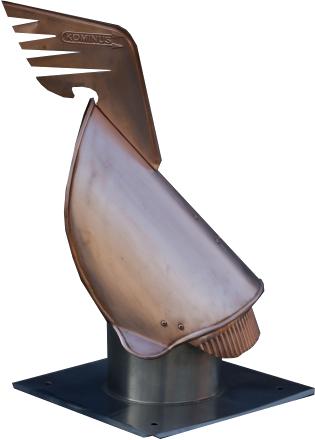 Nasada obrotowa kominowa strażak rycerz kogut