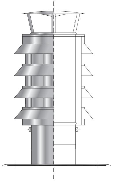 Nasada obrotowa kominowa turbowind