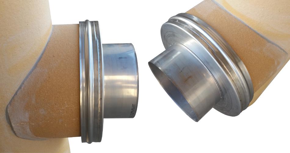 Adapter złączka redukcja na trójnik ceramiczny komin system kominowy