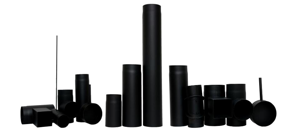 Wkłady kominowe czarne żaroodporne grubościenne
